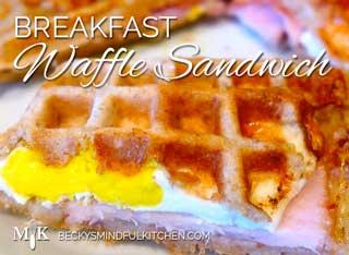 Waffle Breakfast Sandwich