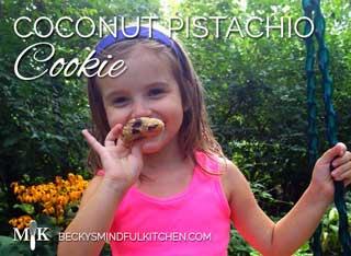 Coconut Pistachio Cookie (Gluten Free, Dairy Free)