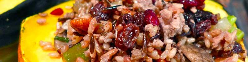 Mushroom and Sage Stuffed Acorn Squash | Becky's Mindful Kitchen