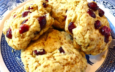 Cranberry Orange Olive Oil Scone