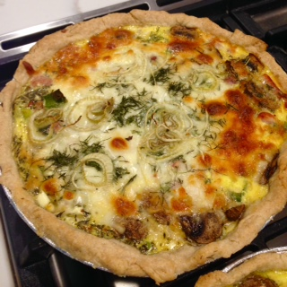 Zucchini and Ham Quiche with Olive Oil Crust