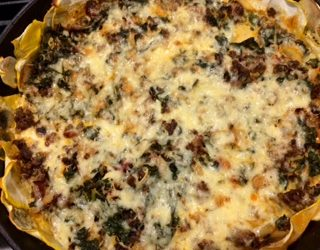 Patty Pad Squash Crusted Beef Frittata