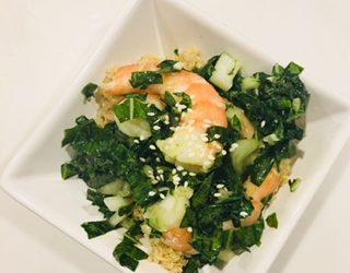 Honey Ginger Shrimp and Veggie Salad