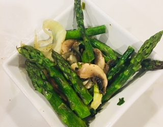 Lemon Garlic Asparagus and Fennel