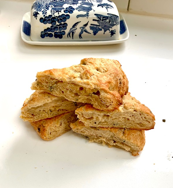 Sourdough Scones- can use starter discard.